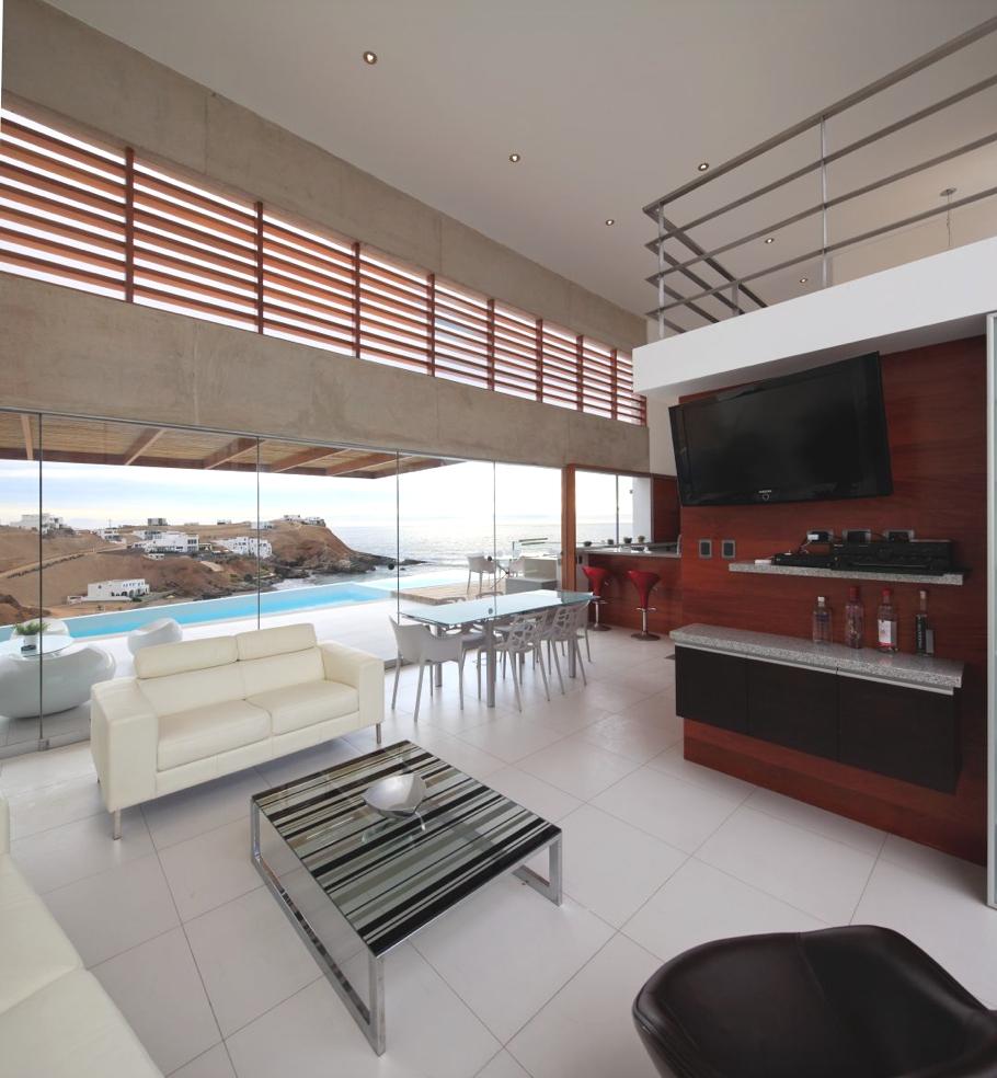 Пляжный домик от Vertice Arquitectos в Перу