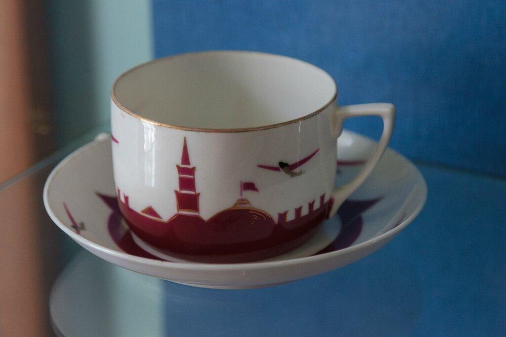 Чайный набор, музей Чкалова