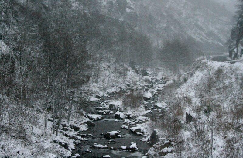 Снежная буря в Пиренеях