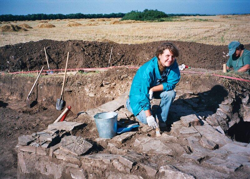 Я на раскопках половецкого святилища на савроматском кургане в Нижнедонских Частых курганах