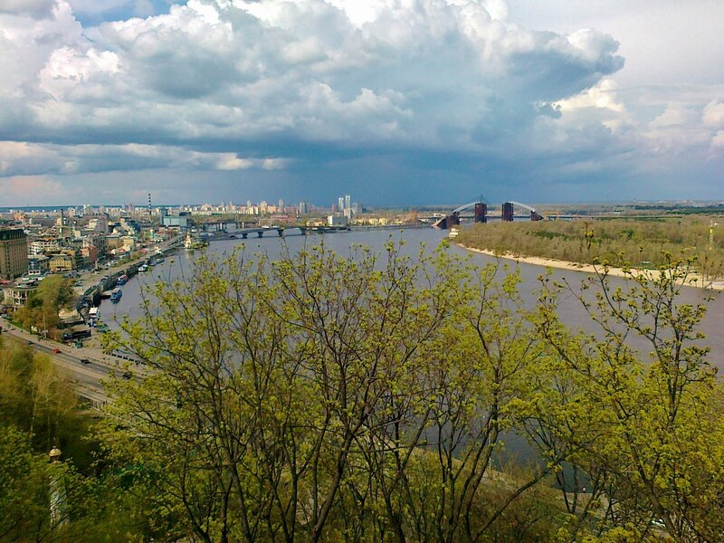 Вид с площадки обозрения Хрещатого парка