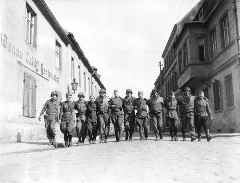 Torgau, Begegnung amerikanische-sowjetische Soldaten. Одно слово - Память!