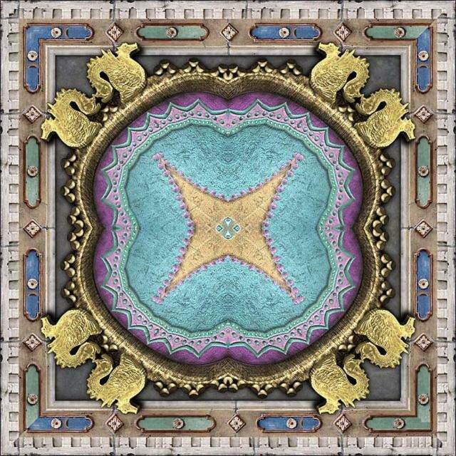 """Предпросмотр - Схема вышивки  """"Подушка- восточные узоры """" - Схемы автора  """"gginn """" - Вышивка крестом."""