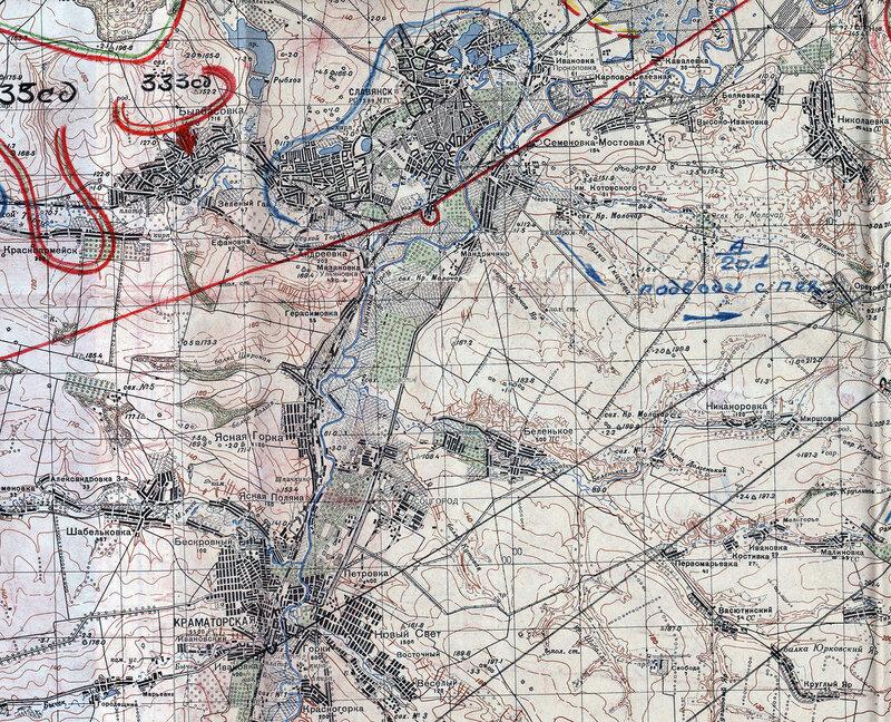 топографическая карта 1939 со