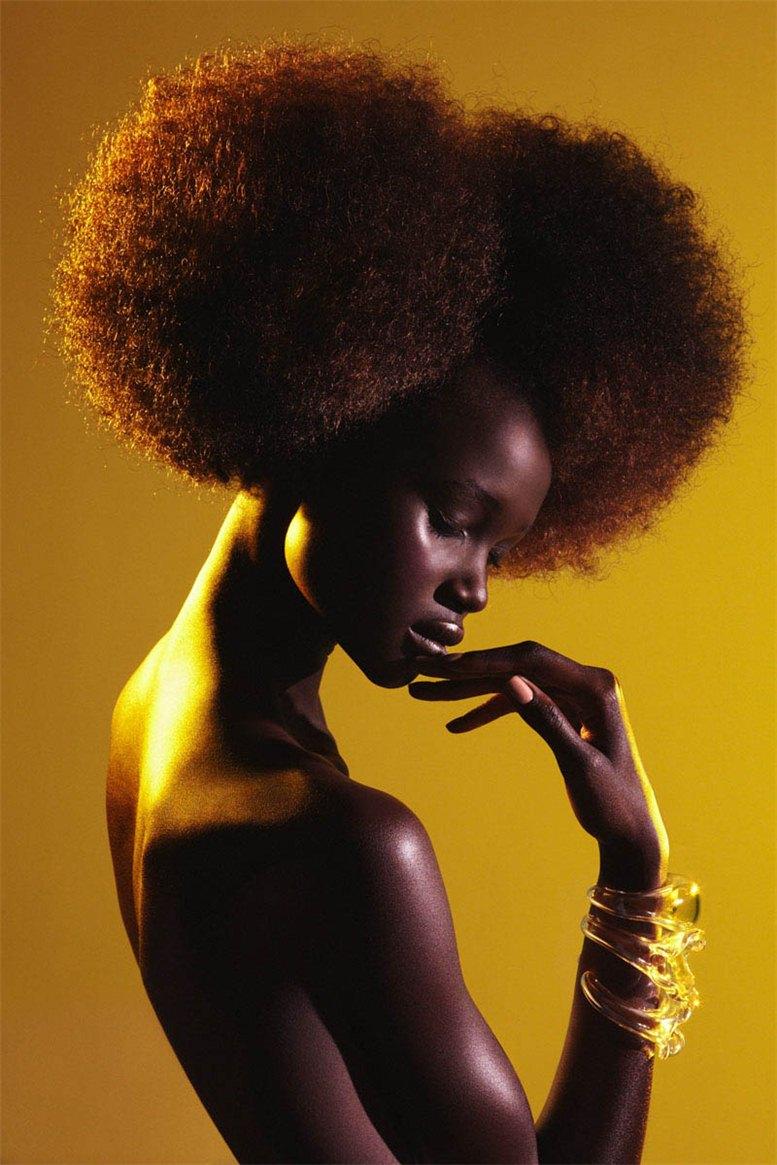 модель Атауи Денг / Ataui Deng, фотограф Elle Muliarchyk