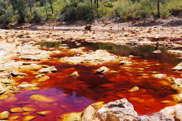 Река Рио Тинто. Испания