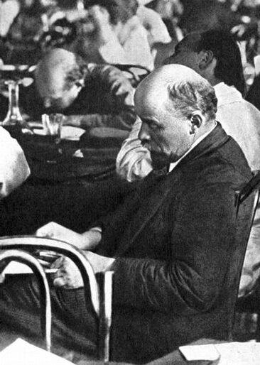 В.И.Ленин на III-ем Конгрессе Коминтерна, июнь-июль 1921 г. Москва, деталь.
