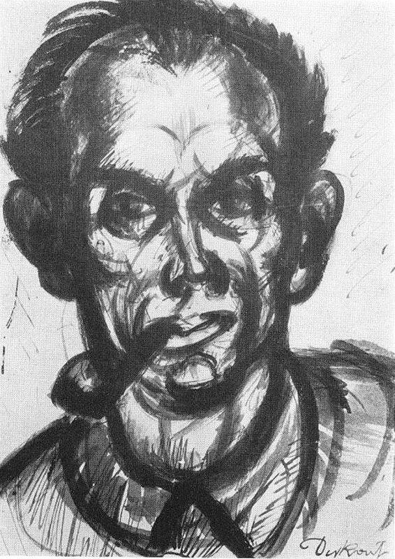 Автопортрет с трубкой. 1926, Деркович Дьюла.