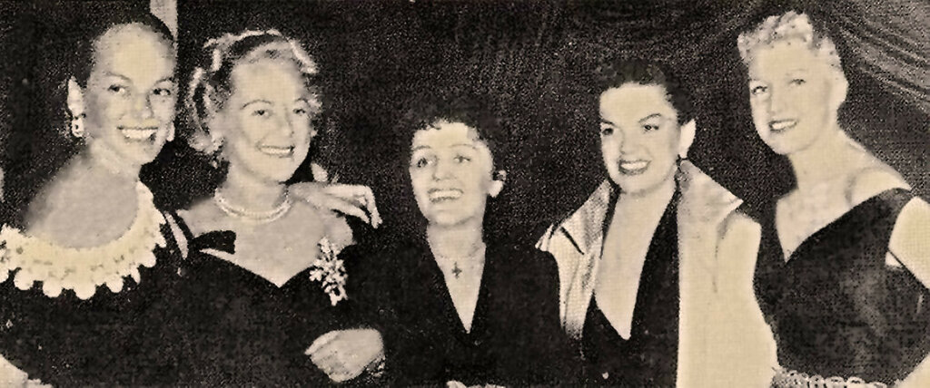 June Haver, Sonja Henie, Edith Piaf, Judy Garland & Ginger Rogers(2)