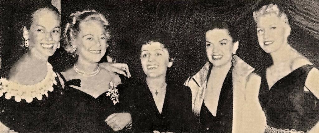June Haver, Sonja Henie, Edith Piaf, Judy Garland & Ginger Rogers(2)