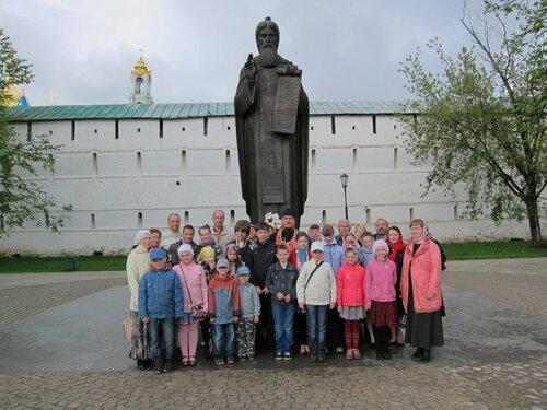 Паломники пироговской воскресной школы в Лавре 2012