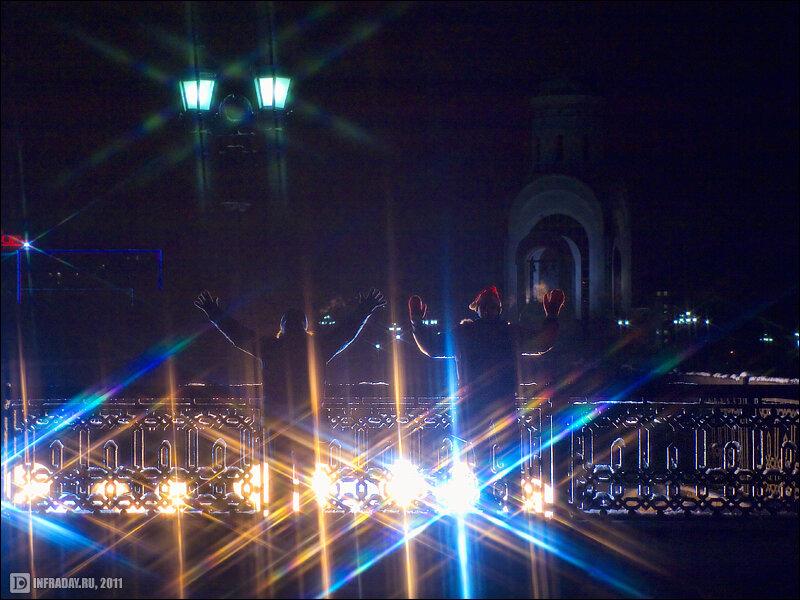 Ночная Москва, фотография ночной Москвы, Новый год