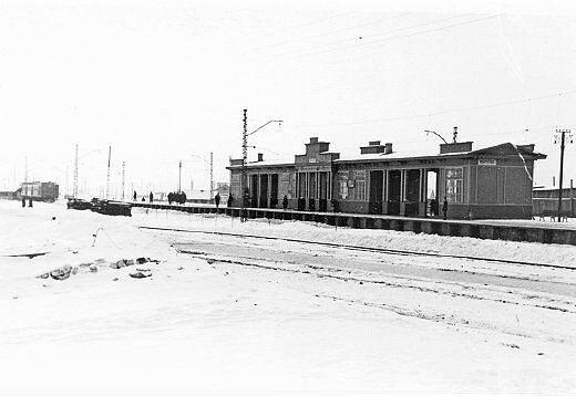 Станция Ивантеевка, ныне не существующая.