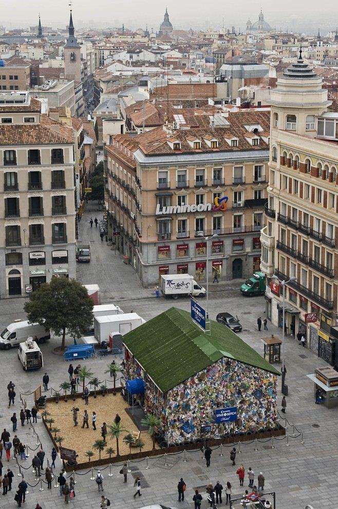 Viešbutis iš šiukšlių Madride