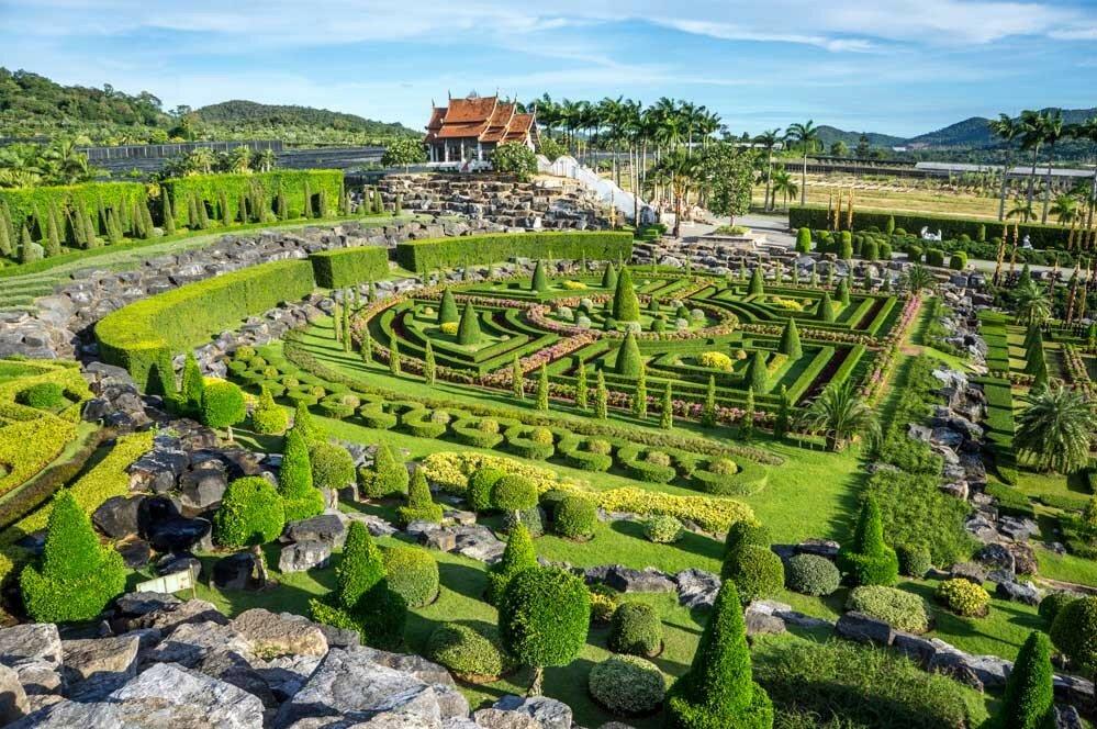 ботанический сад Нонг Нуч в Паттайе