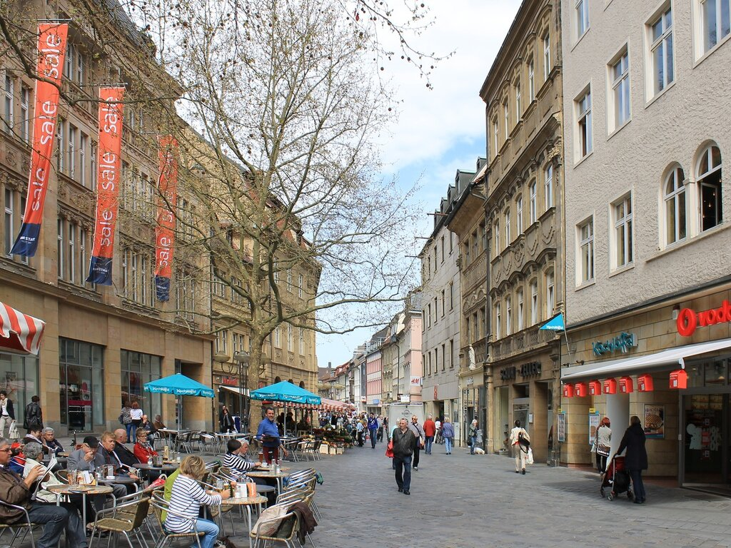 Бамберг. Площадь Грюнер Маркт (Grüner Markt)