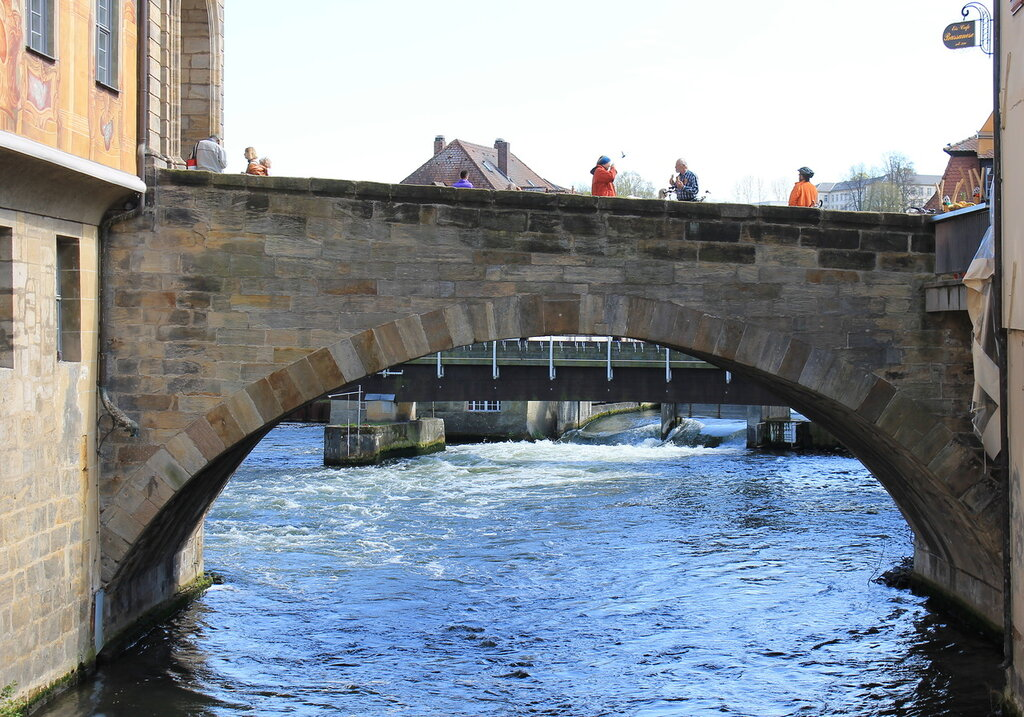 Bamberg. The upper bridge. Obere Brücke.