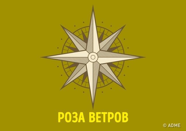 Первое упоминание символа датированно 1300 годом нашей эры. Роза ветров была символом путеводной зве