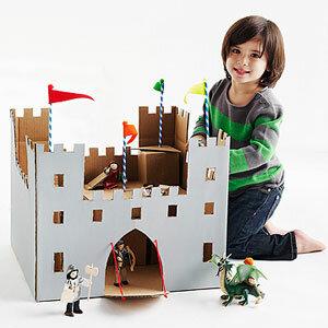 Детские игрушки из картонных коробок