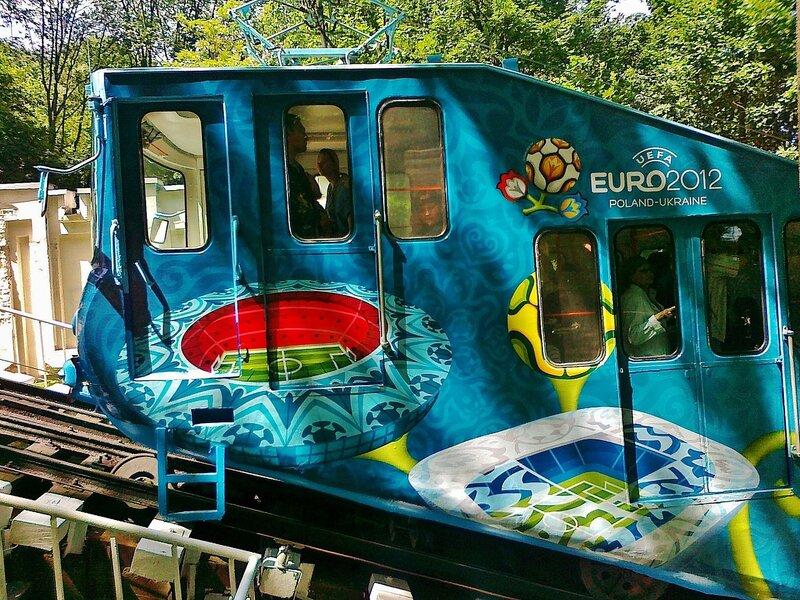 Дизайн вагона фуникулера к Евро-2012