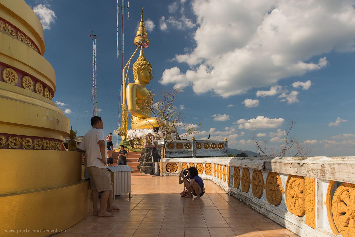 Фото 17. Золотой Будда на вершине горы у храма Wat Tham Suea. Отдых в Краби. Отзывы туристов о поездке в Таиланд самостоятельно