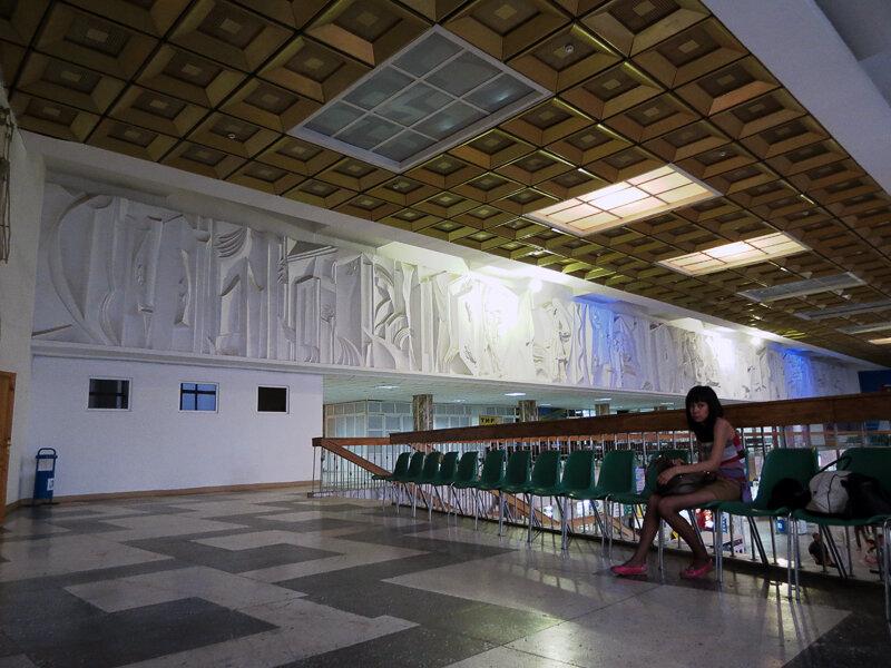Зал ожидания в железнодорожном вокзале Кокшетау - 2012. Комментарии к фото - Кокшетау Онлайн