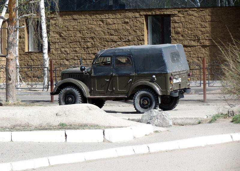 Боровое, уже ретро-автомобиль ГАЗ-69 - 2012 год. Комментарии к фото - Кокшетау Онлайн
