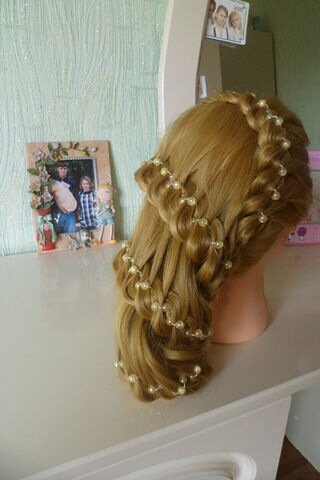 Прически на манекене из коротких волос