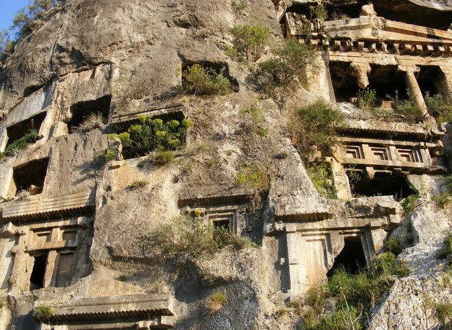 Ликийские гробницы. Турция