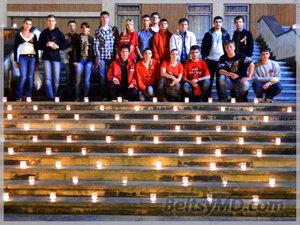 500 свечей зажгли в Бельцах на 9 мая 2012