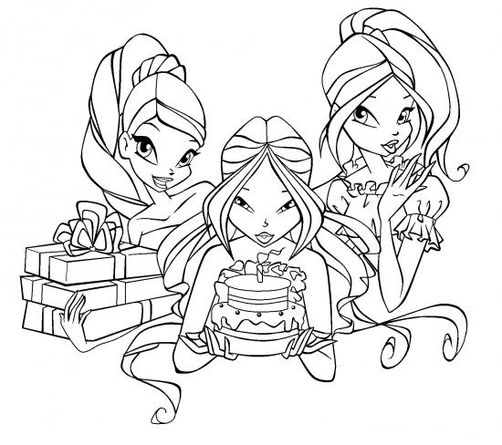 Winx Club Раскраски 2012 +игра раскраска!