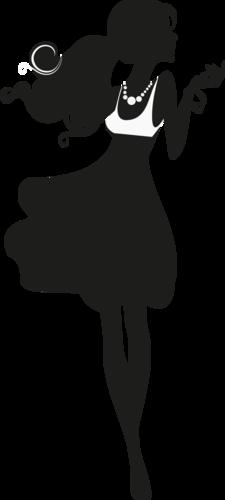 Фотошоп кисти женского силуэта в платьях