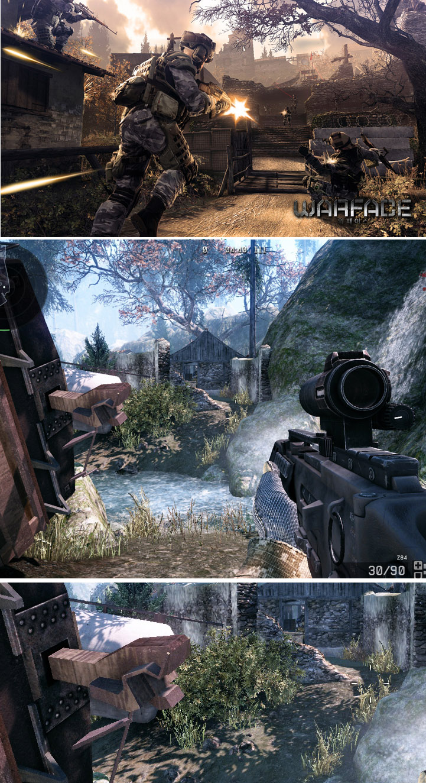 скриншот из Warface - рекламная графика и настоящая