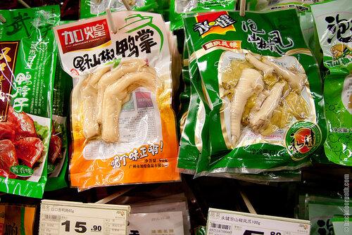 маринованные куриные лапы, еда в Китае