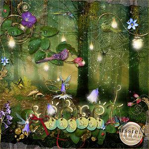 """Скрап-набор """"Потайной сад"""" (Secret Garden)"""