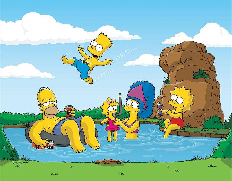 """Предпросмотр схемы вышивки  """"Симпсоны """"."""