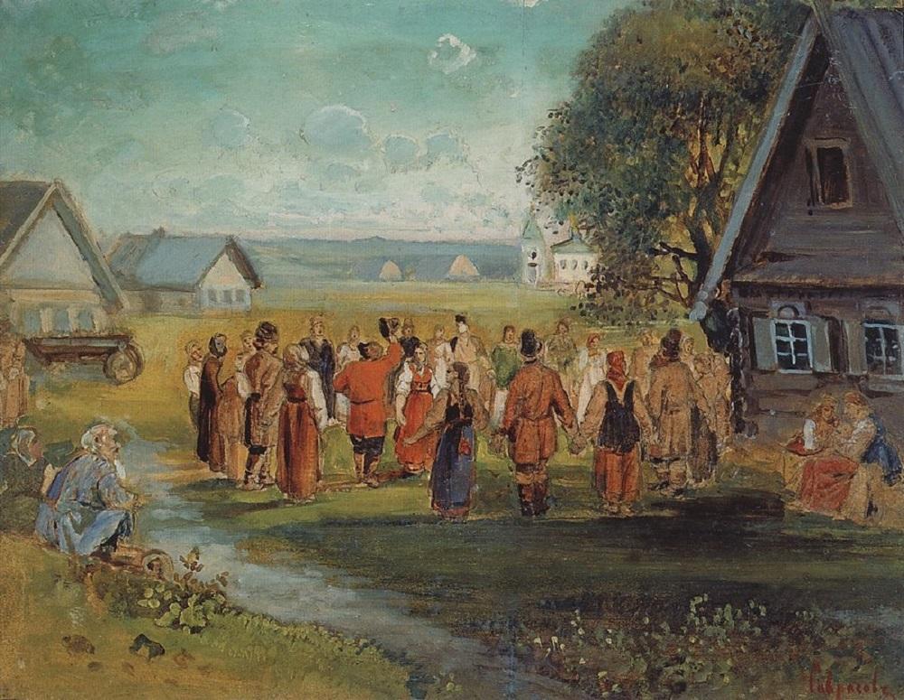Хоровод в селе, 1873-1874.jpg