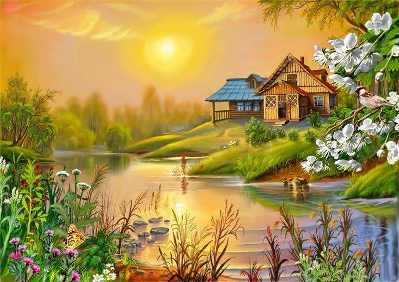 Статусы про родной дом в деревне