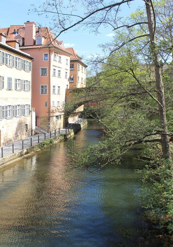 Бамберг. Старя ратуша. Верхний мост. Bamberg. Altes Rathaus.  Obere Brücke.