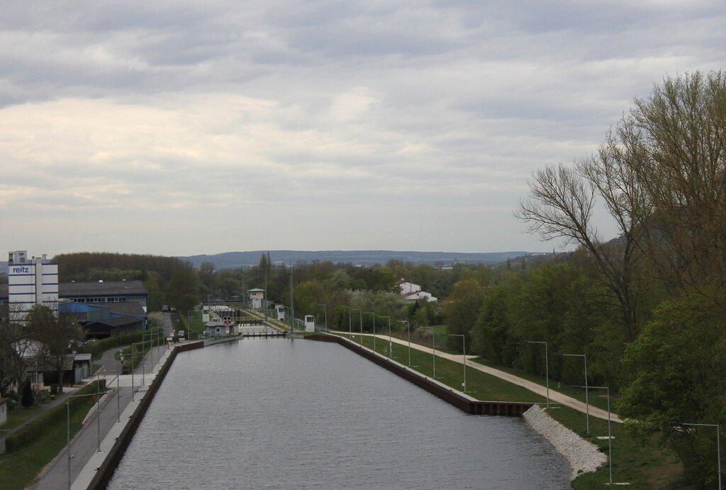 Германия. гидроузел Канал Майн-Дунай близ Бамберга. Germany. Kanal Main-Donau