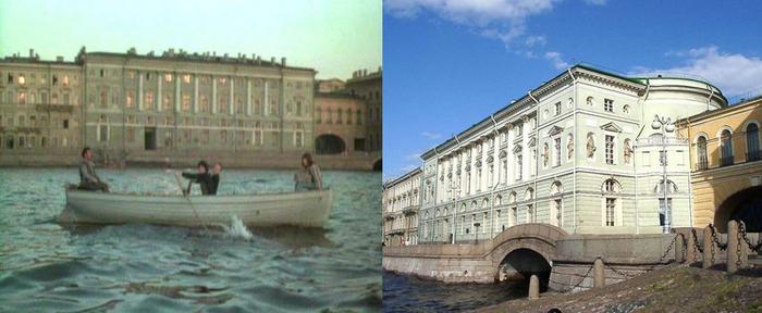 62. И начались чудеса. Лодка, которая начала свое плавание и плыла к мосту Лейтенанта Шмидта, плывет