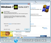 Windows 7 with sp1 x32 x64 by SURA SOFT