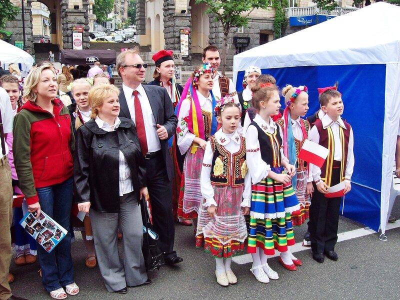 Польская делегация на Дне Европы в Киеве