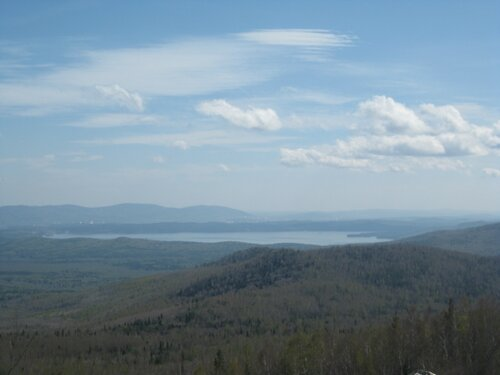 озеро Тургояк с Крутого ключа