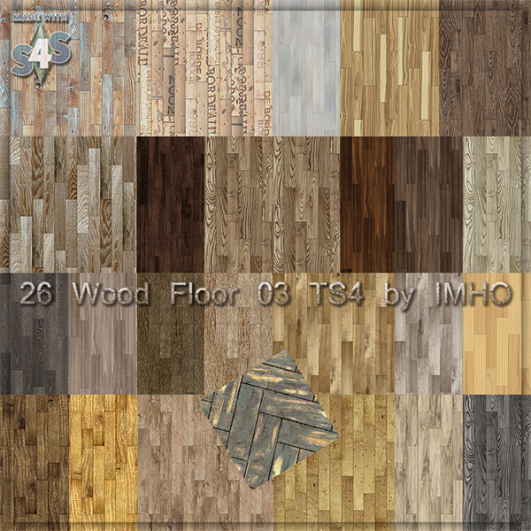 Imho Sims 26 Wood Floor 03 Ts4 By Imho Sims 4 Updates