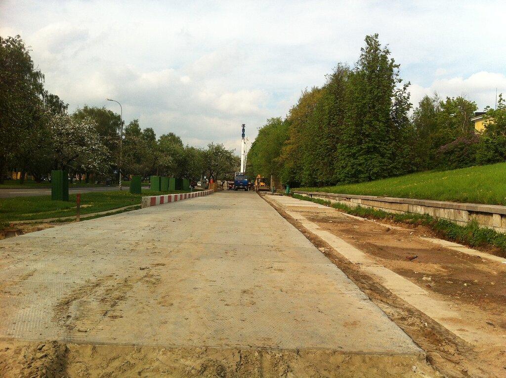 Строительство метро на Мичуринском проспекте, 11 мая 2012 года.