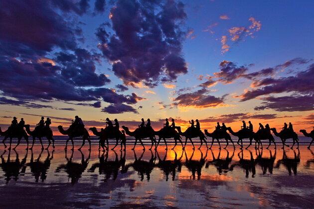 Пляж Кейбл Бич (Cable Beach). Австралия