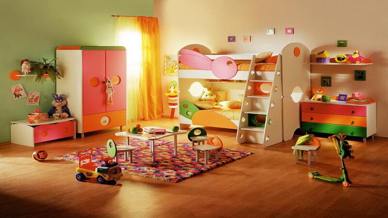 дизайн интерьер детской комнаты