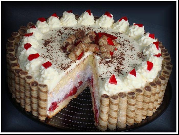 торт с творожным кремом нежность фото рецепт