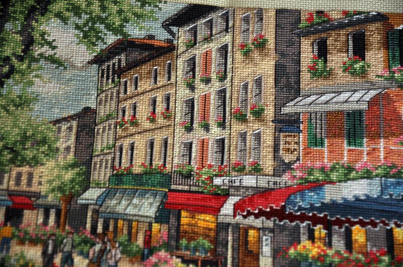 Вышивка парижский рынок